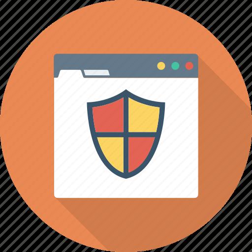 protection, shield, web icon