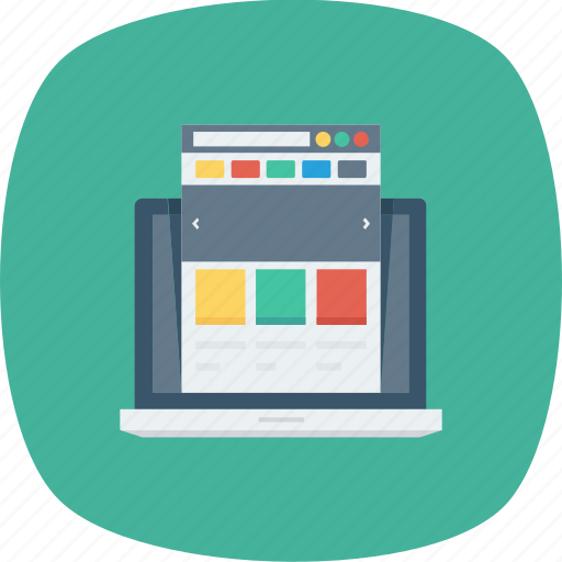 internet, laptop, layout, presentation, web, webpage, website icon