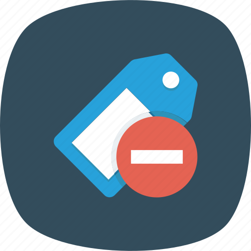 Label, remove, shopping, tag icon - Download on Iconfinder