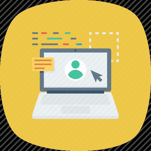 Laptop, online, profile, user icon - Download on Iconfinder