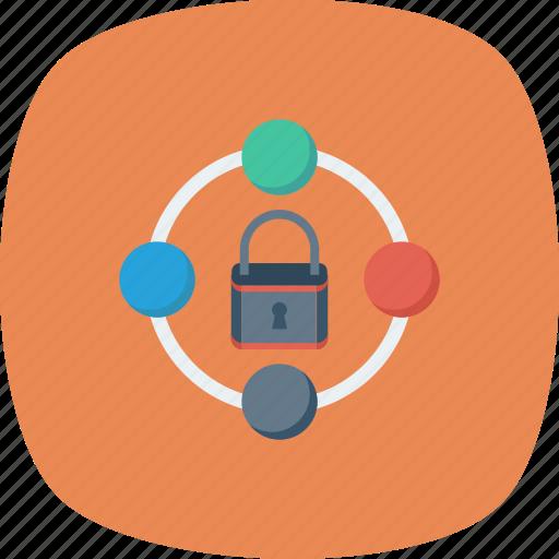 lock, padlock, secure, security, server, sharing icon