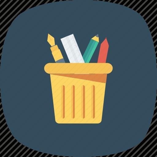 box, container, holder, pen, pencil icon