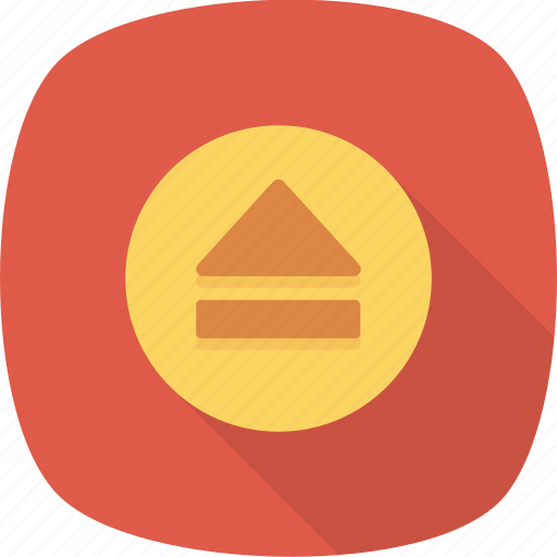 control, eject, media, multimedia icon