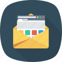 email, envelope, letter, mail, message, web, website icon