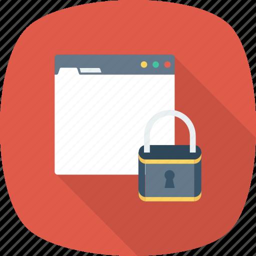 internet, lock, password, security, web icon