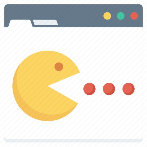 ghost, monitor, online, pacman icon