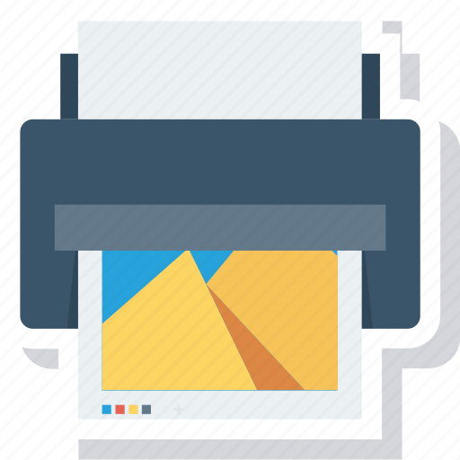 Printer, office, hardware, device, paper, print, output icon