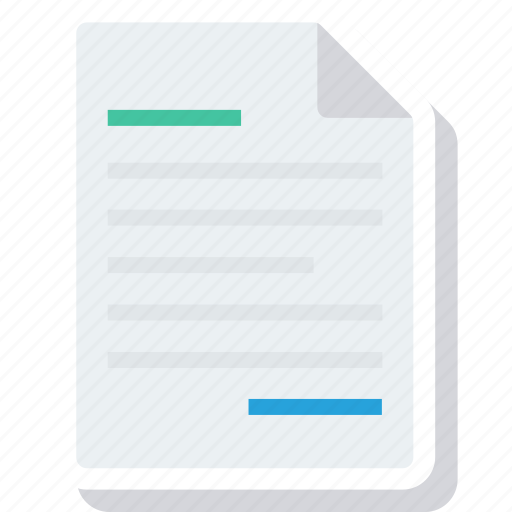 document, letter, note, page, paper, report icon
