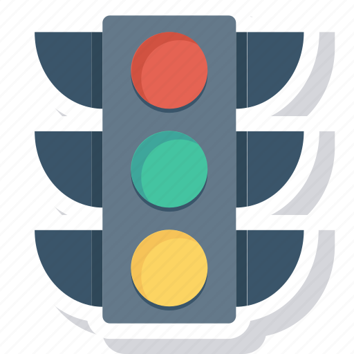 electric, lamp, light, sign, trafic icon