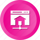 home, homepage, house, share, web icon