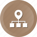 ip, location, network, pin icon