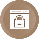 lock, page, security, web, webpage, website icon
