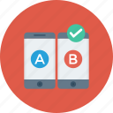 ab, comparison, mobile, test, testing, usability, web icon icon