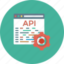 api, app, coding, development, settings, software, web icon icon