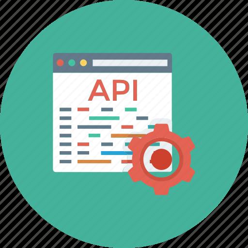 api, app, coding, development, settings, software, web icon icon