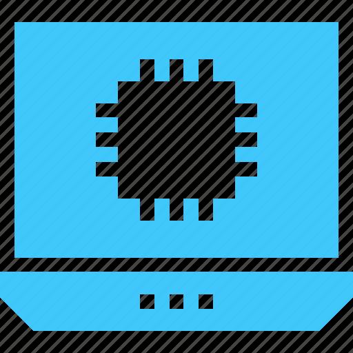 arrows, combination, integration, laptop, pc, system icon