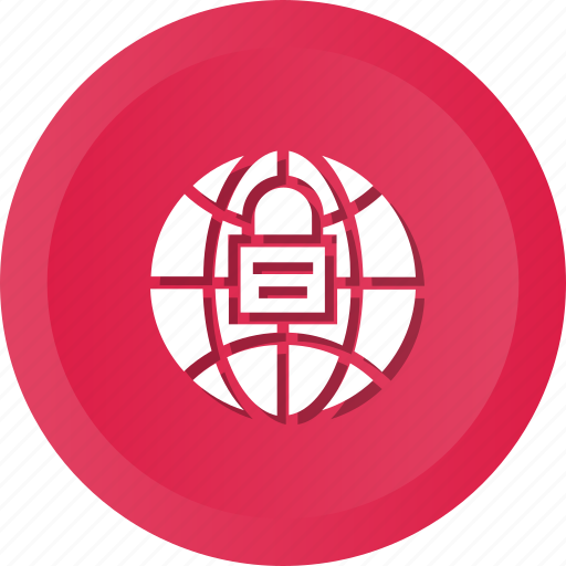 globe, security, with icon