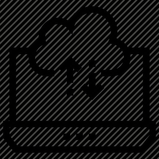 Data, database, download, laptop, save, storage, • cloud icon - Download on Iconfinder