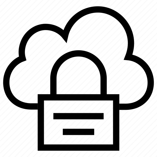 Cloud, cloud security, lock, online security, security icon icon - Download on Iconfinder