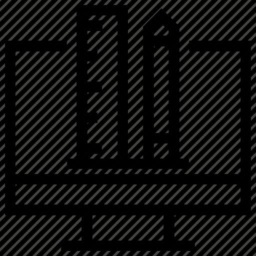 Computer, creative, design, designer, graphic, monitor, paint icon icon - Download on Iconfinder
