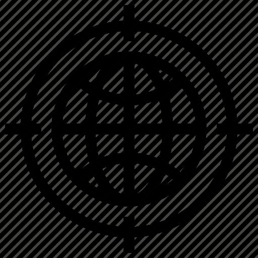 business, finance, geo target, global target, marketing, seo icon icon