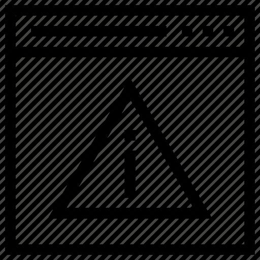 Warning, web alert, web error, webpage, webpage error icon icon - Download on Iconfinder