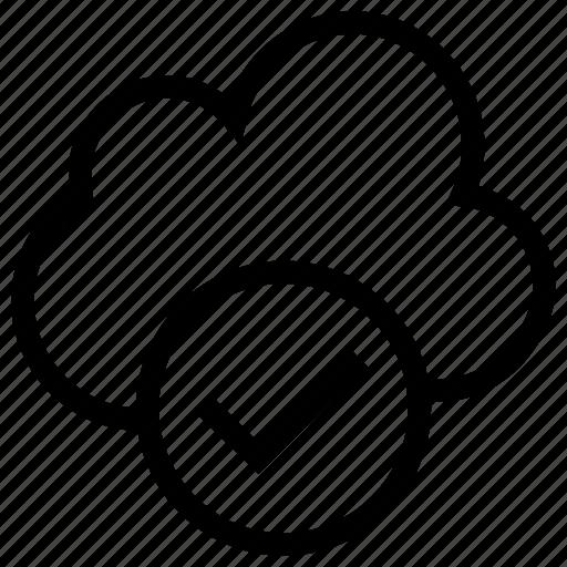 accept, check, check mark, cloud, done, marked, ok icon icon