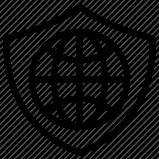 global security, globe, globe lock, globe with lock, lock icon icon