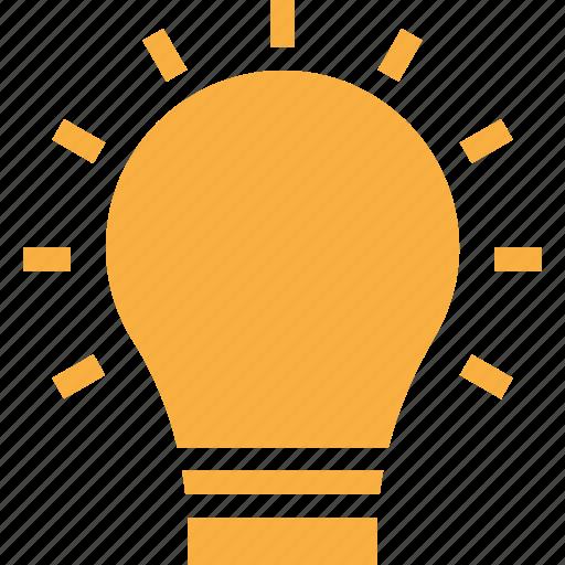 bulb, electricity, idea, light, lightbulb icon