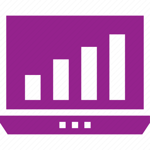 business, graph, infographic, laptop, seo, statistics icon