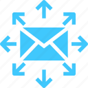 circle, email, envelope, mail, share icon