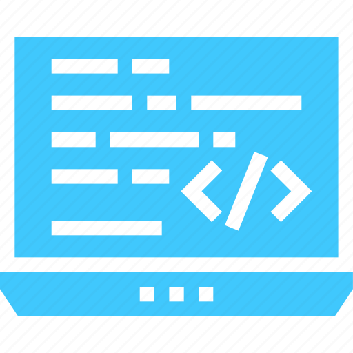 code, coding, development, laptop, programming icon