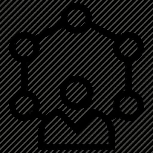 affiliate, arrows, network, user, user network icon icon
