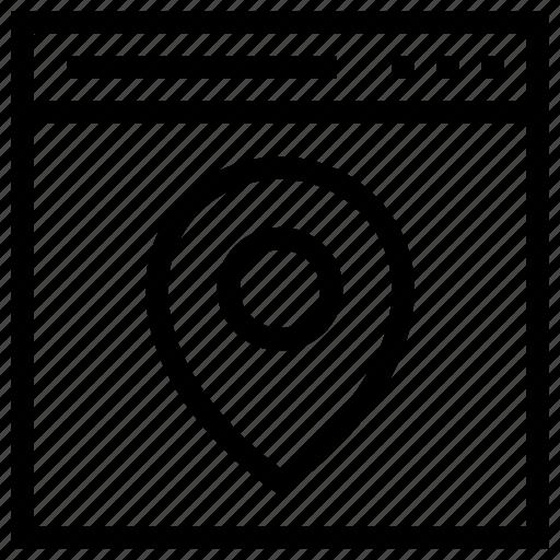 design, location, navigate, page, seo, web, wordpress icon icon