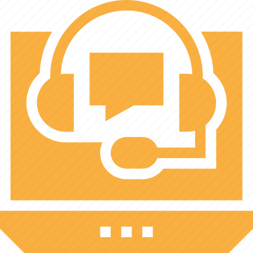 customer, help, information, laptop, online, service icon