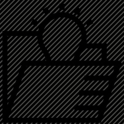 Blub, bright, folder, idea, lightbulb, solution icon, storage icon - Download on Iconfinder