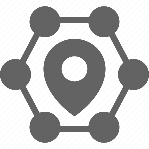 friends, group, location, network, users icon