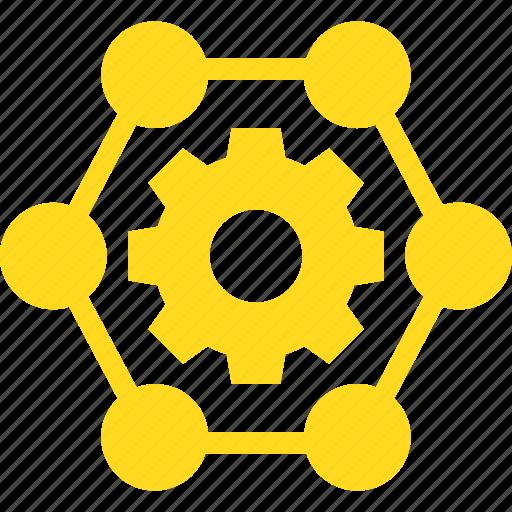 globe, in, network icon