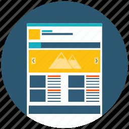 application, design, development, html, layout, web, web design icon