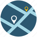 address, application, map, navigation, navigator, road, web icon