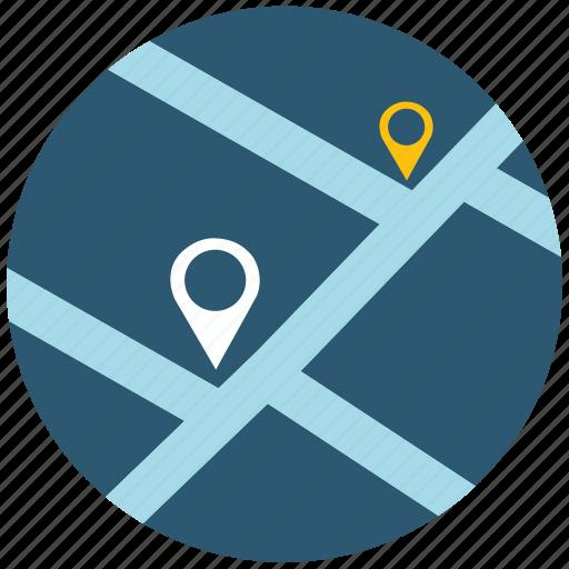 address, application, map, navigation, navigator, road, web icon