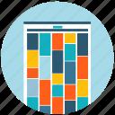 application, card, layout, pinterest, web, web desgin icon