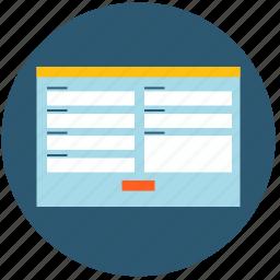 application, contact, design, form, popup, web, web design icon
