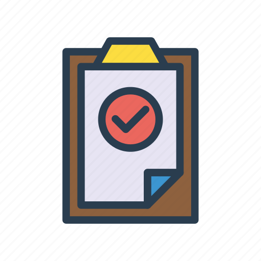 Check, clipboard, complete, document, tick icon - Download on Iconfinder