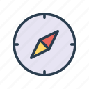 compass, direction, location, navigation, north icon
