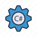 coding, development, programming, scripting, setting icon