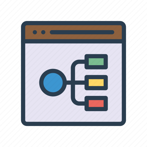 Connect  Diagram  Internet  Netwprk  Webpage Icon