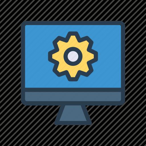 configure, monitor, preference, screen, setting icon
