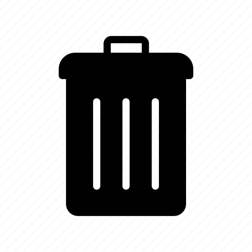 bin, delete, garbage, remove, trash icon