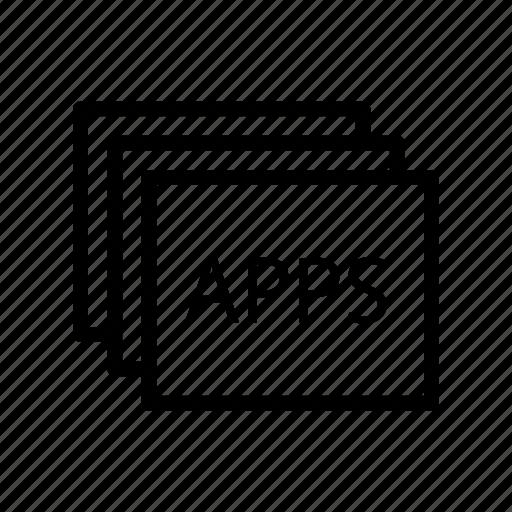 Development, application, coding, mobile, programming icon
